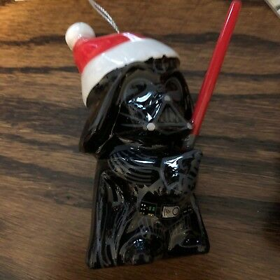 "Hallmark Darth Vader Mini Santa Ornament 4"" Star Wars Christmas"