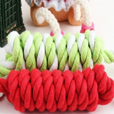 8 Rope Dog Pet Puppy Chew Cotton Ball Braided Knot Toys Products Random DJ8X