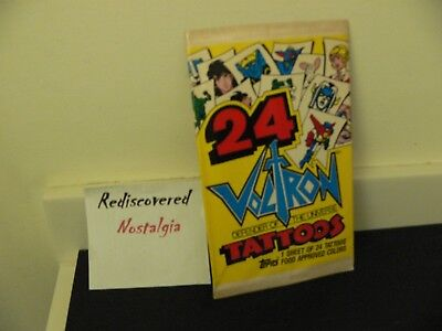 Voltron Defender of the Universe Tattoos by Topps - 1984 - 1 package of 24