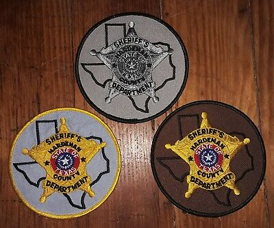 Texas/Patch/Sheriff/Collectible. (3)Hardeman County Tx Sheriff Dept. patch set