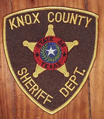 Texas/Patch/Sheriff/Collectible. Knox County Texas Sheriff's Department patch