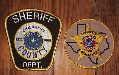 Texas/Patch/Sheriff/Collectible. (2) Childress County Texas Sheriff's Department