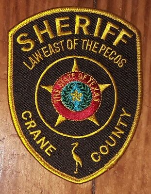 Texas/Patch/Sheriff/Collectible  Crane County Texas Sheriff's Department patch