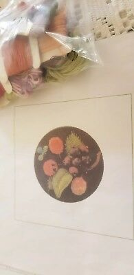 Embroidery Kit  - stumpwork  Berries Brooch Partly Complete All Cottons Included