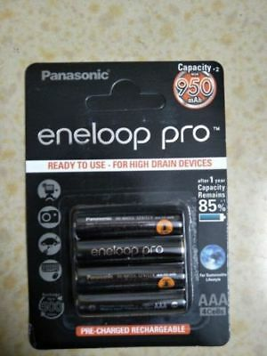 Panasonic Eneloop Pro 950mAh AAA High Capacity Rechargeable Batteries New DF