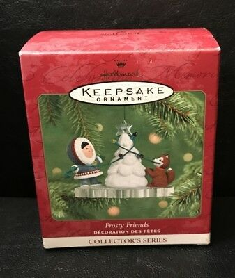 Hallmark Ornament  Frosty Friends Christmas 22nd in series 2001