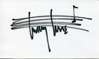 Tommy Tune Broadway Choreographer Director Producer Tony Award Signed Autograph