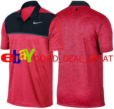 ad8146b1 2017 TIGER WOODS *TW Zonal Cooling Stripe* Golf Shirt 833171-010 ...
