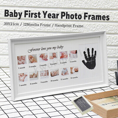 Picture Photo Frame Baby First Year Newborn Footprint Record Gift Present   new