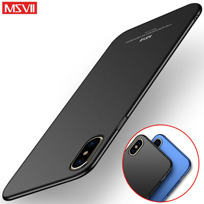 7d6c4c1c65 MSVII Ultra Thin Shockproof Matte Hard Case Back Cover For iPhone X 6S/6 5