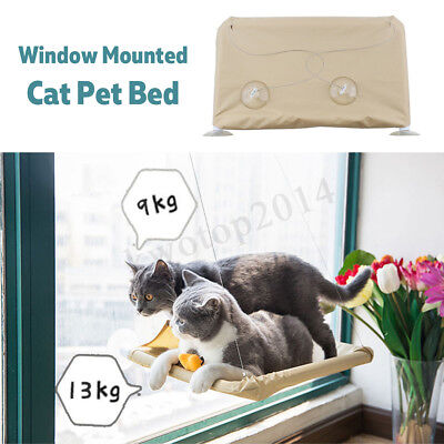 4 Sucker Cat Kitty Pet Hanging Bed Mat Hammock Window Mounted Soft Seat