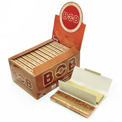 B*B Unbleached Rolling Papers 78*44mm 24 Booklets=1200 leaves W TIPS smoking