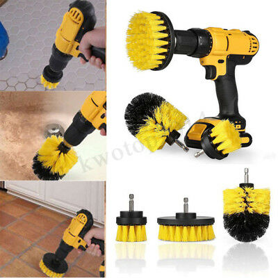 3Pcs/Set Power Scrub Tile Grout Cleaning Electric Drill Brush Tub Cleaner