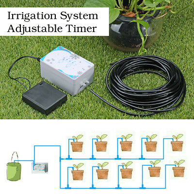 Automatic Drip Irrigation System Kit Watering Timer Controller 10m Tube USB