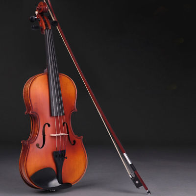 Full Size 4/4 Acoustic Violin Professional Handed Fiddle with Case+Bow Natural