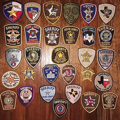 Texas/Patch/Sheriff/Collectible. (30) Texas Sheriff Department patches