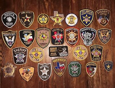 Texas/Patch/Sheriff/Collectible (26) Texas Sheriff's Department patches