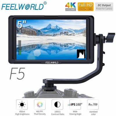 Feelworld F5 5inch 4K HDMI Full HD 1920x1080 On-camera Video Monitor for DSLR SG