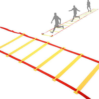 4m Training Agility Speed Red Strap Yellow Ladder Suitable for Soccer Training