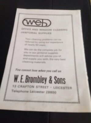 ephemera 1974 Picture Advert W E Brombley & Sons Ltd Cleaners Leicester j1a