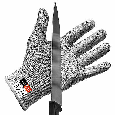 Cut Resistant Gloves Cut Level 5 Protection Food Grade EN388 Certified Cook Chef