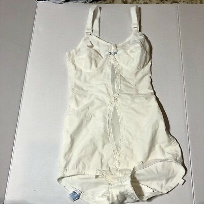 Vintage I Can't Believe It's A Girdle Nylon 34B Body Shaper Briefer All In One