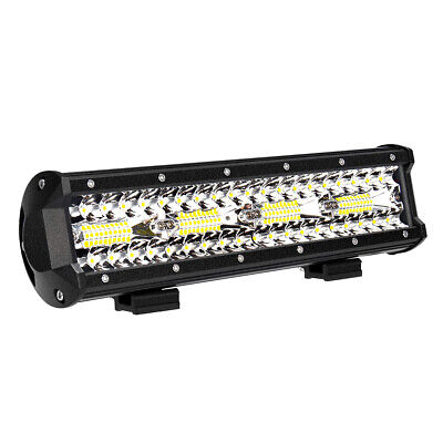 12'' LED Light Bar 240W 21600LM Spot Flood Combo Beam Off Road SUV Driving Light
