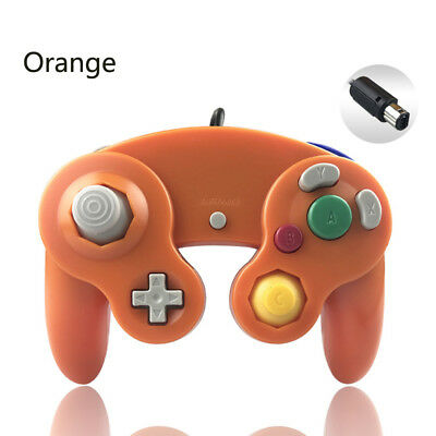 Orange Wired game controller for Nintendo GameCube NGC Video Game Console