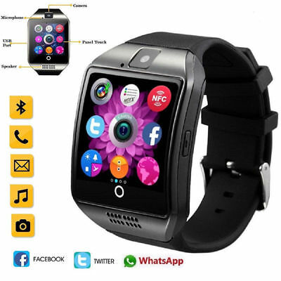 NEW Q18 Bluetooth Smart Watch Phone Wrist watch for Android & iOS UK STOCK