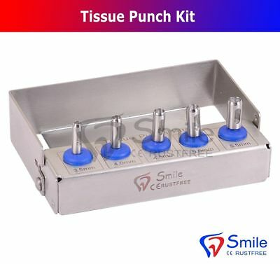 Dental Implant Tissue Punch Kit of 5 Pieces Surgical Tools Kit Smile Dentale UK