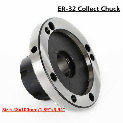 Size 48x100mm ER-32 Collet Chuck 100MM DIAMETER Compact Lathe Tight Tolerance