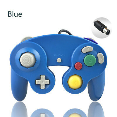BLUE Wired Gamecube Controller for Nintendo NGC Video Game Console