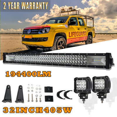"""32""""inch LED Light Bar Flood Spot 4"""" inch CREE Work For Offroad 4x4WD Truck 30"""""""