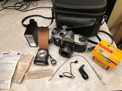 Antique Vintage SLR Camera Plus Accessories