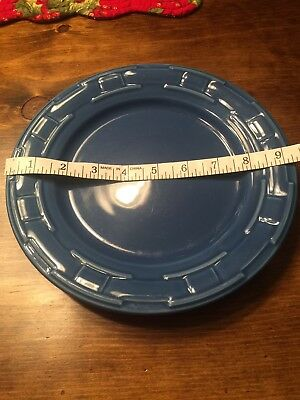 Longaberger Cornflower Blue Woven Traditions Lunch/ Salad Plate EUC