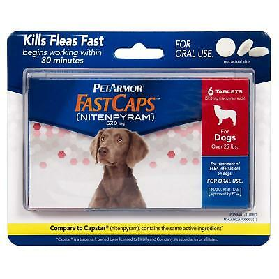 Flea Tick Pills Tablets for Dogs above 25 lbs Treatment Control Oral Medicine