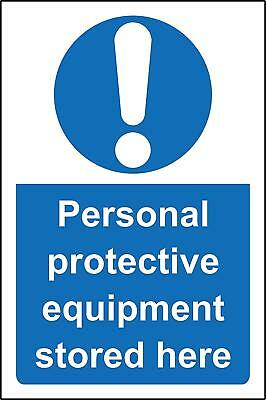 Personnel protective equipment PPE stored here safety sign - Sticker 200x150mm