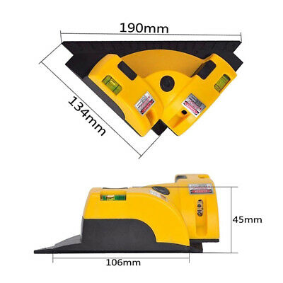 New Vertical Horizontal Line Infrared Laser Level Right Angle Measuring Tool