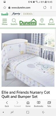 Ellie and friends cot bumper set and sleeping bag