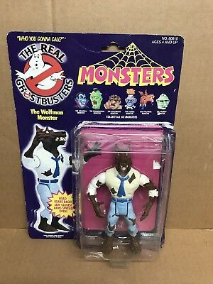 Vintage GHOSTBUSTERS WOLFMAN  KENNER 1986 ON OPEN CARD MINT FIGURE