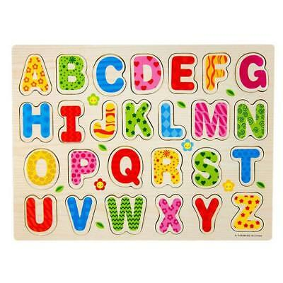 Wooden Animal Letter Puzzle Jigsaw Early Learning Educational Toys Baby Kids USA