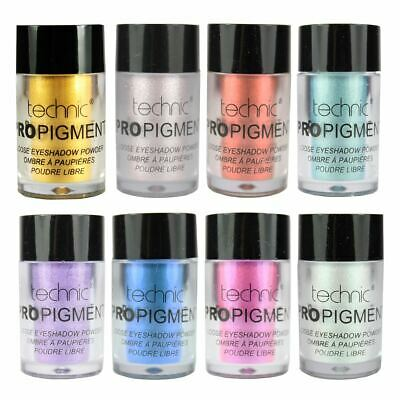 Technic Pro Pigment Loose Eyeshadow Powder Metallic Shimmer Highly Pigmented