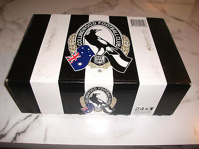 Collingwood collectors 2010 premiership beer cans , never opened , carton of 24.