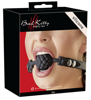 Bondage Morso per la bocca Mouth Ball Gag in silicone Design Berry Nero Elegante