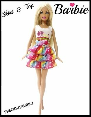 Brand new barbie doll clothes clothing outfit casual summer skirt & top party