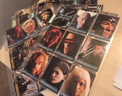 Complete Set Of 72 Topps Xmen The Movie Trading Cards Must See!