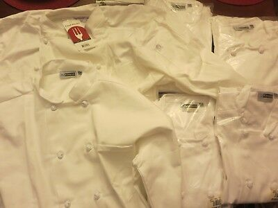 Lot of 3 New in Package Edwards Size XL White Chef Jackets/ Coats 10 button