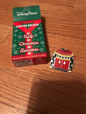 Mickey Mouse Ugly Christmas Sweater Mystery Set Disney Pin