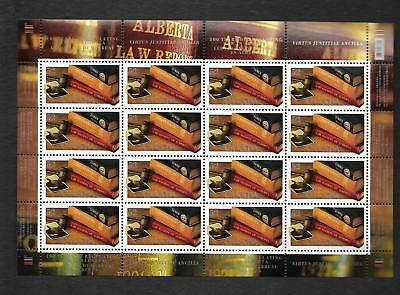 pk40067:Stamps-Canada #2228 Alberta Law Society 16 x 52 cent Sheet-MNH