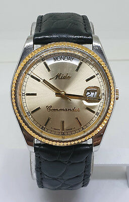Mido Commander Day & Date President Gold Mens Automatic Swiss Watch